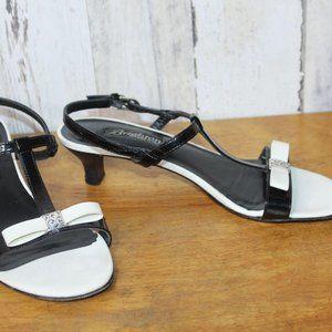 Brighton Kismet 7.5 Black White Women's Shoes